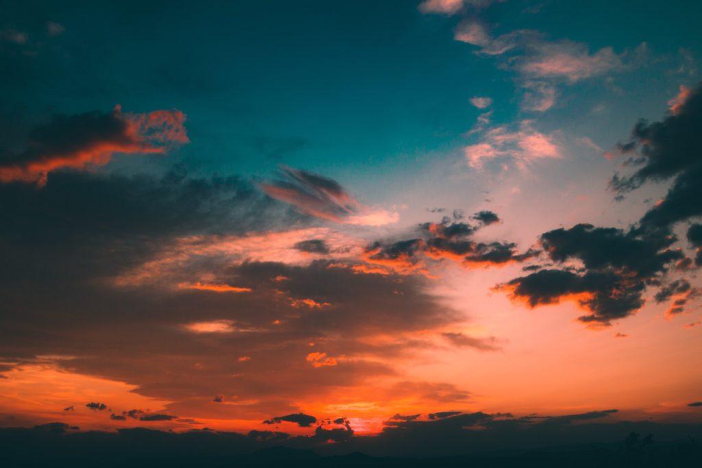 Zwei Himmel.